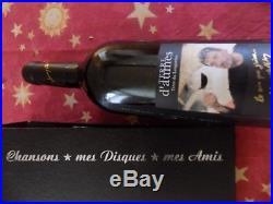Johnny Hallyday Autographe Signé Main, Bouteille Vin Johnny Hallyday + Dédicace