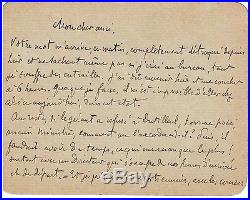 Joris-karl Huysmans / Lettre Autographe Signée(circa 1890/1891)