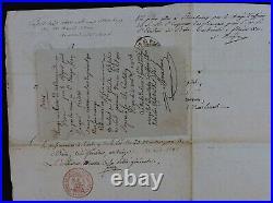 Joseph FOUCHE autographe / COMPAGNON ARTISAN / TB pièce 1805