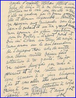 Joséphine BAKER exceptionnelle lettre autographe signée 4 pages à beaux parents