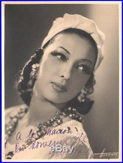 Josephine Baker. Photographie Harcourt dédicacée vers 1930
