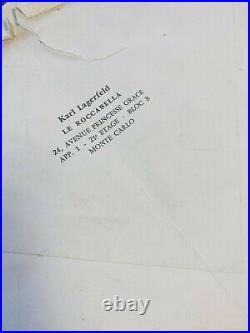 Karl LAGERFELD / Lettre autographe signée / Collection / XVIIIe siècle / Mode