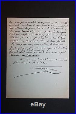 LAS Octave Uzanne bibliophile homme de lettres à Alfred Vallette Mercure France