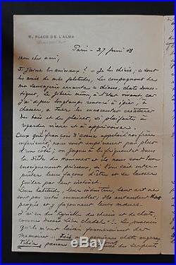 LAS Octave Uzanne bibliophile homme de lettres à un ami / sur les animaux egypte