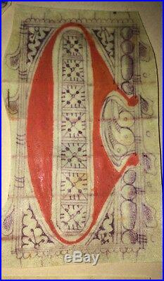 LETTRES RUBRIQUÉES SUR PARCHEMIN (MANUSCRIT DU XVIéme)