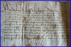 LETTRE D'ANNE DE FRANCE de BOURBONNAIS & D'AUVERGNE FILLE DE L. XI 1522