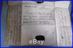 LETTRE MANUSCRITE AVEC CACHET AUX ARMES DUCHESSE DE SULLY AU DUC c. 1690