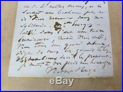 LETTRE signée de VICTOR HUGO. 1869. Adressée à MARIE LAURENT