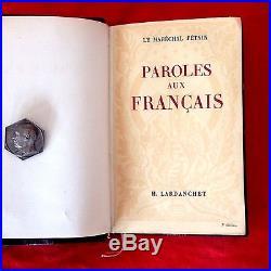 LE MARECHAL PETAIN PAROLES aux français + LETTRES AUTOGRAPHES SIGNEES + médaille