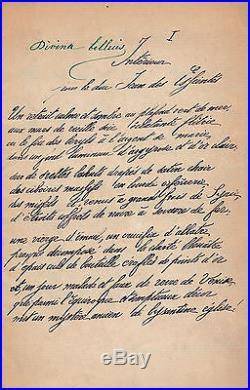 LORRAIN, Jean Intérieur Poème autographe signé Des Esseintes
