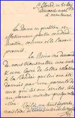 LOUIS-PHILIPPE Ier / LETTRE AUTOGRAPHE (1831) / LETTRE RELATIVE À LA VENDÉE