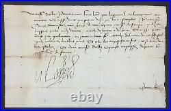 LOUIS XI Roi de France Lettre signée Etat de Charles le Téméraire 1478