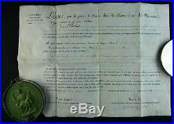 LOUIS XVIII Lettres de NATURALITE / SUPERBE SCEAU ROYAL