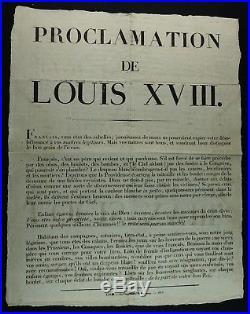 LOUIS XVIII Propagande anti-royaliste 1815 / RARE