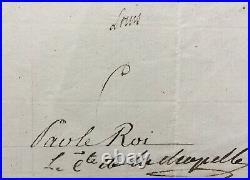 LOUIS XVIII Roi de France Document / Lettre signée Armée royaliste 1798