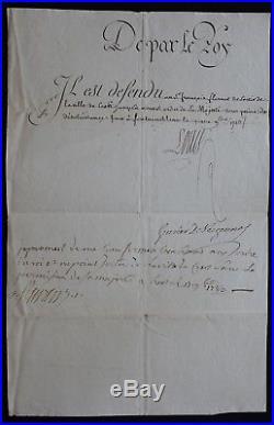 LOUIS XVI / Lettre de Cachet / Autographe de VERGENNES