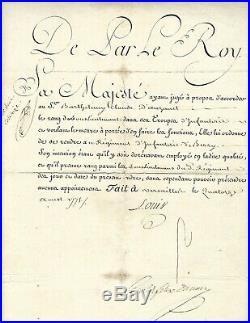 LOUIS XVI Maréchal du Muy- Régiment de Berry