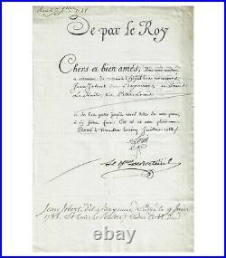 LOUIS XVI. ROI DE FRANCE. LETTRE DE CACHET autographe (secrétaire) (G 4206)