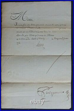 LOUIS XVI Révocation LETTRE de CACHET / Tour de Crest 1774