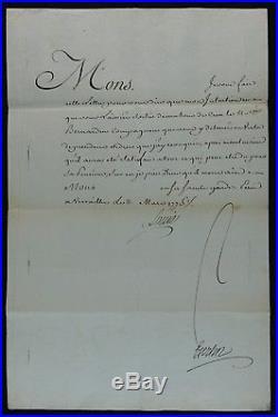 LOUIS XVI / Révocation Lettre de Cachet / Autographe BERTIN