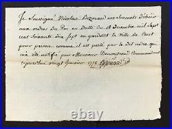 LOUIS XVI Roi de France Lettre de cachet signée Contreseing Amelot 1777