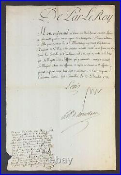 LOUIS XVI Roi de France Lettre de cachet signée citadelle de Doullens 1780