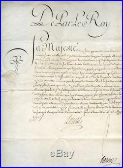 LOUIS XV, Autographe Ordre du Roi signé Louis et Bertin 1770