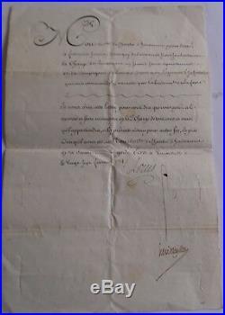 LOUIS XV LETTRE au COMTE DU CHATELET D'HARAUCOURT DE BOISMORAND 1774