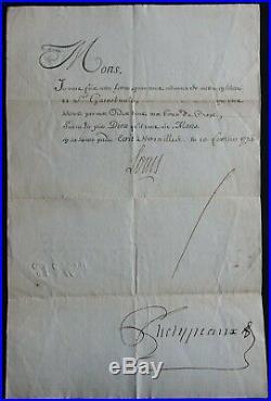 LOUIS XV / Révocation Lettre de Cachet 1774 / Autographe PHELYPEAUX