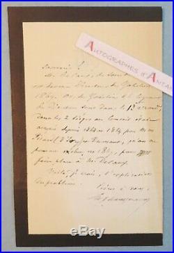 L. A. S Baron Georges Eugène HAUSSMANN Decaux Gobelins lettre autographe LAS