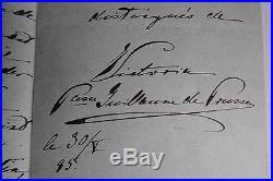 L. A. S. DE VICTORIA, FUTURE IMPERATRICE de PRUSSE à PRINCESSE RADZIWILL 1885