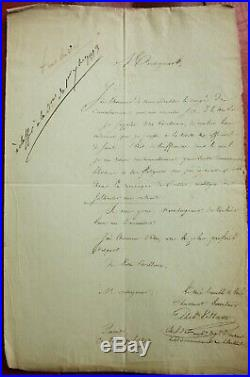 L. A. S. Du General Villate Demandant Sa Mise En Retraite. Campagne De Russie 1813