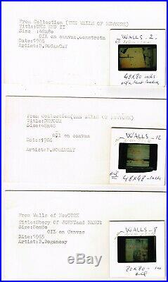 L'artiste Turc Burhan Dogancay Et Son Expo Walls Of New York En 1966