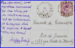 L'une des dernières lettres de Stefan Zweig et Lotte écrite du Brésil