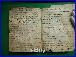 La18 Ms Rare Manuscrit D'apothicaire 1798 Relie Velin Pharmacie Medecine Creuse