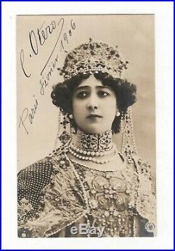 La Belle Otero / Portrait Noir Et Blanc Signé / Paris / 1906 / Belle-époque