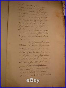 La Voie ROMAINE Plougrescant Carhaix avec Charles de La Monneraye. Ecrit Main. XIX