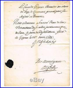 Le Comte De Grignan Gendre De Madame De Sevigne Lieutenant-general De Provence