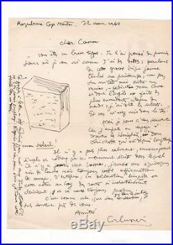 Le Corbusier / Lettre Autographe/ Chandigarh / Jean Cassou / Don Quichotte