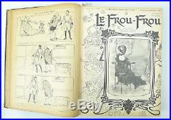 Le Frou-Frou année complète 1902 51 numéros dont 3 en couleurs