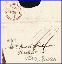 Le célèbre auteur écossais Walter SCOTT autographe