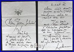 Le célèbre peintre Georges MATHIEU autographe