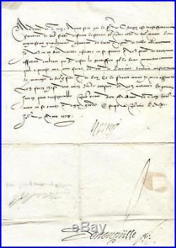 Le roi Henri III donne son consentement à un mariage