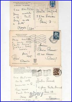 Leonor Fini / 3 Cartes Postales Autographes À Hecor Pascual / Surréalisme