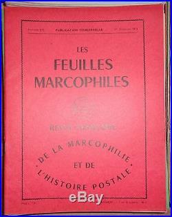 Les feuilles marcophiles, lot de 158 revues, assez bien suivi de 1973 à 2013