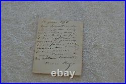 Lettre Authographe De Victor Hugo