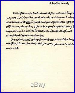 Lettre Autographe De Louis XVIII (puisaye / Vendée)