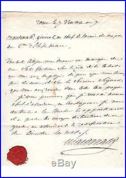 Lettre Autographe Du Maréchal Macdonald
