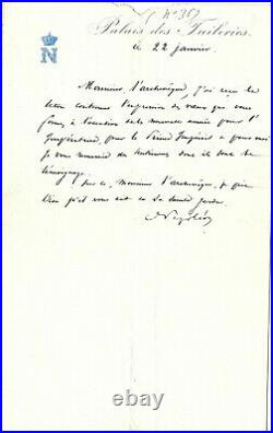 Lettre Autographe de Napoléon III à l'Archevêque de Paris Georges Darbois