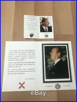 Lettre Carte Léon DEGRELLE officielle + Photos IN MEMORIAM Introuvable